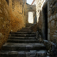 EN&gt; Stairs in a narrow street of Saint Montan in the Ardeche, France |<br />