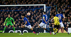 Yuya Kubo of BSC Young Boys fires a shot towards goal   - Photo mandatory by-line: Matt McNulty/JMP - Mobile: 07966 386802 - 26/02/2015 - SPORT - Football - Liverpool - Goodison Park - Everton v Young Boys - UEFA EUROPA LEAGUE ROUND OF 32 SECOND LEG