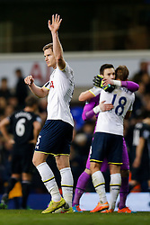 Jan Vertonghen of Tottenham Hotspur waves to the supporters after Tottenham Hotspur win 2-1 - Photo mandatory by-line: Rogan Thomson/JMP - 07966 386802 - 30/11/2014 - SPORT - FOOTBALL - London, England - White Hart Lane - Tottenham Hotspur v Everton - Barclays Premier League.