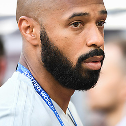 Thierry Henry assistant coach of Belgium during the FIFA World Cup Group G match between Belgium and Tunisia at Spartak Stadium on June 23, 2018 in Moscow, Russia. (Photo by Anthony Dibon/Icon Sport)