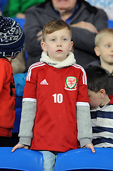 A young welsh fan - Photo mandatory by-line: Dougie Allward/JMP - Tel: Mobile: 07966 386802 03/03/2014 -