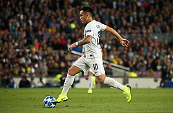 October 24, 2018 - Barcelona, Spain - Lautaro Martinez during the match between FC Barcelona and Inter, corresponding to the week 3 of the group stage of the UEFA Champions Leage, played at the Camp Nou Stadium, on 24th October 2018, in Barcelona, Spain. (Credit Image: © Joan Valls/NurPhoto via ZUMA Press)