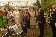 Suzanne Gawood, Princess Ann and HE Jocelyn Whiteman of Grenada. Royal Horticultural Society's Chelsea Flower Show, Royal Hospital's grounds. Chelsea. 23 May 2005.  ONE TIME USE ONLY - DO NOT ARCHIVE  © Copyright Photograph by Dafydd Jones 66 Stockwell Park Rd. London SW9 0DA Tel 020 7733 0108 www.dafjones.com