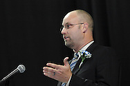 Principal Daniel J. Von Handorf speaks during the 29th annual Kettering Fairmont High School commencement at the Nutter Center in Fairborn, Thursday, May 31, 2012.
