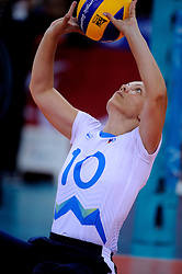 01-09-2012 ZITVOLLEYBAL: PARALYMPISCHE SPELEN 2012 USA - SLOVENIE: LONDEN<br />In ExCel South Arena wint USA van Slovenie / Sasa KOTNIK<br />©2012-FotoHoogendoorn.nl