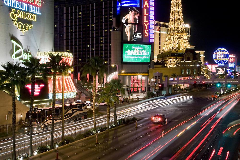Las Vegas Strip at night, NV, USA..