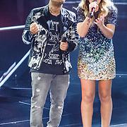 NLD/Hilversum/20160109 - 4de live uitzending The Voice of Holland 2015, en Melissa Jansen