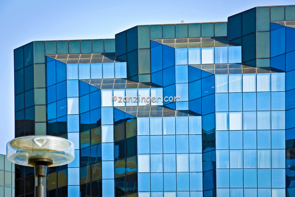 Irvine, Office Building, Main Street, Architectural, Reflective, Glass, Exterior, looking up, Orange County, CA, United States High dynamic range imaging (HDRI or HDR)