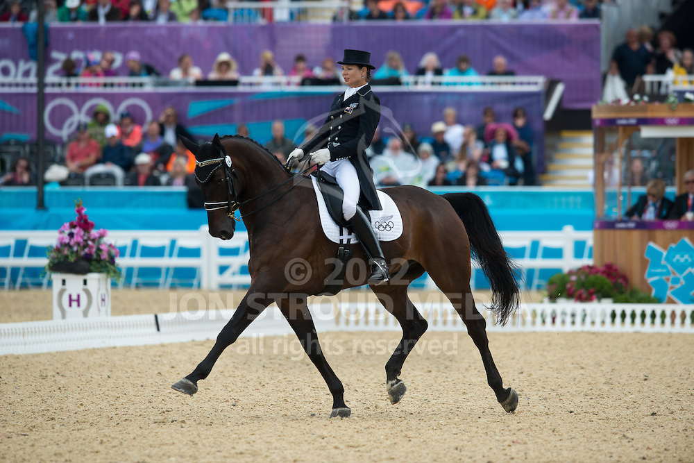 Louisa Hill (NZL) & Antonello - Dressage Grand Prix - London 2012 Olympic Games - Greenwich Park, London, United Kingdom -  02 August 2012
