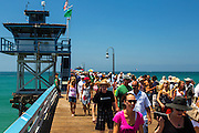 Tourists On The San Clemente Pier