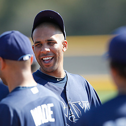 February 20, 2011; Port Charlotte, FL, USA; Tampa Bay Rays starting pitcher David Price (14) during spring training at Charlotte Sports Park.  Mandatory Credit: Derick E. Hingle