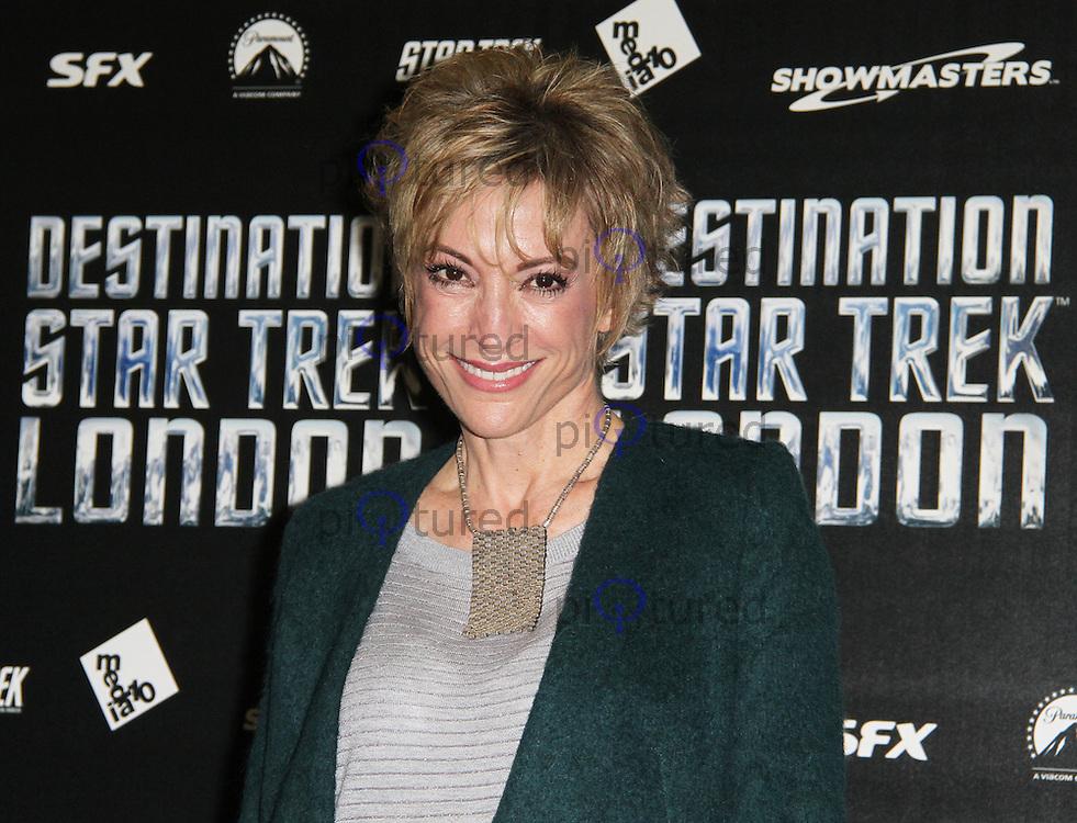 LONDON - OCTOBER 19: Nana Visitor; Kira Nerys attended 'Destination Star Trek London' at the ExCel Centre London, UK, October 19, 2012. (Photo by Richard Goldschmidt)