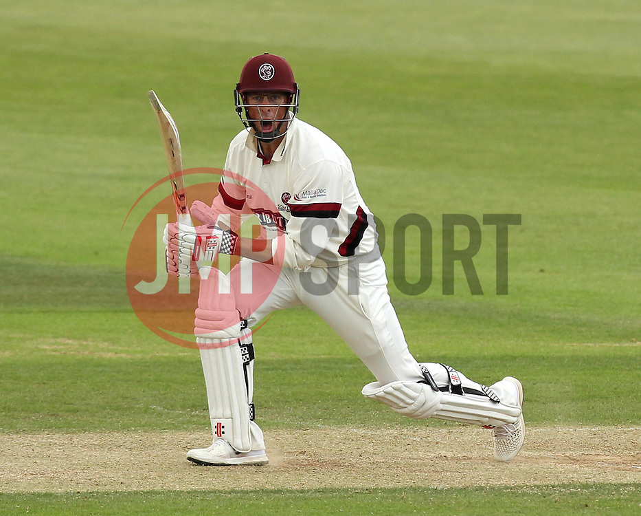 Somerset's Marcus Trescothick calls no to a run - Photo mandatory by-line: Robbie Stephenson/JMP - Mobile: 07966 386802 - 23/06/2015 - SPORT - Cricket - Southampton - The Ageas Bowl - Hampshire v Somerset - County Championship Division One