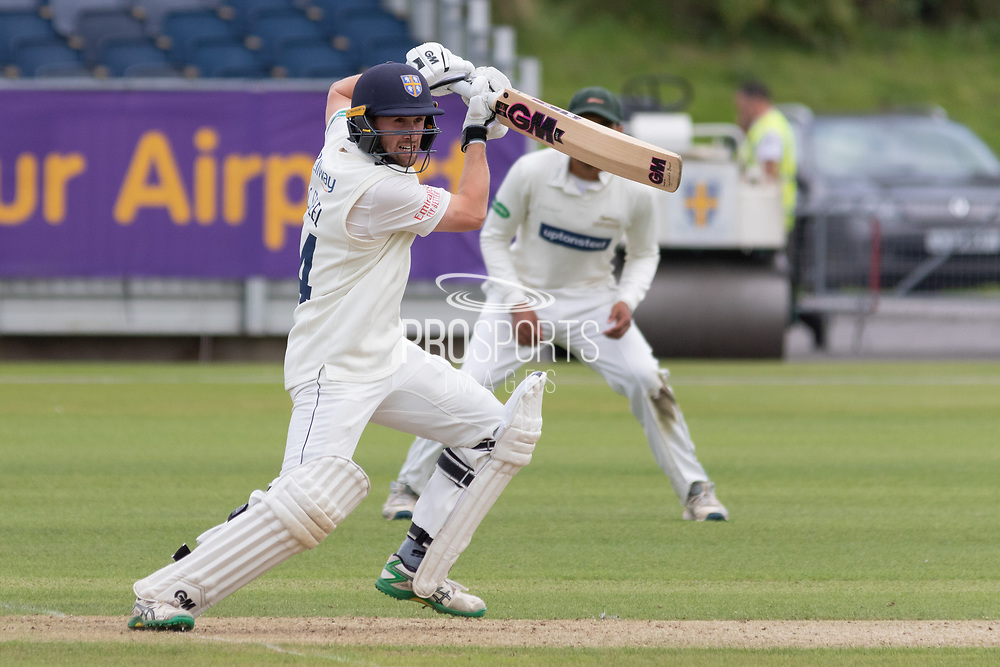 Cameron Steel batting during the Specsavers County Champ Div 2 match between Durham County Cricket Club and Leicestershire County Cricket Club at the Emirates Durham ICG Ground, Chester-le-Street, United Kingdom on 18 August 2019.