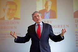 Former Labour Prime Minister Gordon Brown addressing delegates at the New Enlightenment Conference at the Balmoral Hotel, Edinburgh. pic copyright Terry Murden @edinburghelitemedia