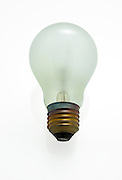 Cutout of a incandescent light bulb on white background