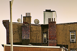 Rooftop in downtown Jersey City, NJ.