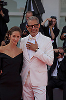 Actor Jeff Goldblum and Emilie Livingston at the premiere gala screening of the film The Mountain at the 75th Venice Film Festival, Sala Grande on Thursday 30th August 2018, Venice Lido, Italy.