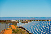 Long rows of solar panels for the Solar Park