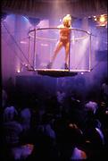 Dancer on suspended podium, Ibiza 1999