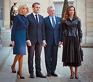 Queen Rania & King Abdullah Visit Paris