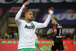 January 19, 2019 - Milan, Milan, Italy - Kevin-Prince Boateng #27 of US Sassuolo reacts to a missed chance during the serie A match between FC Internazionale and US Sassuolo at Stadio Giuseppe Meazza on January 19, 2019 in Milan, Italy. (Credit Image: © Giuseppe Cottini/NurPhoto via ZUMA Press)