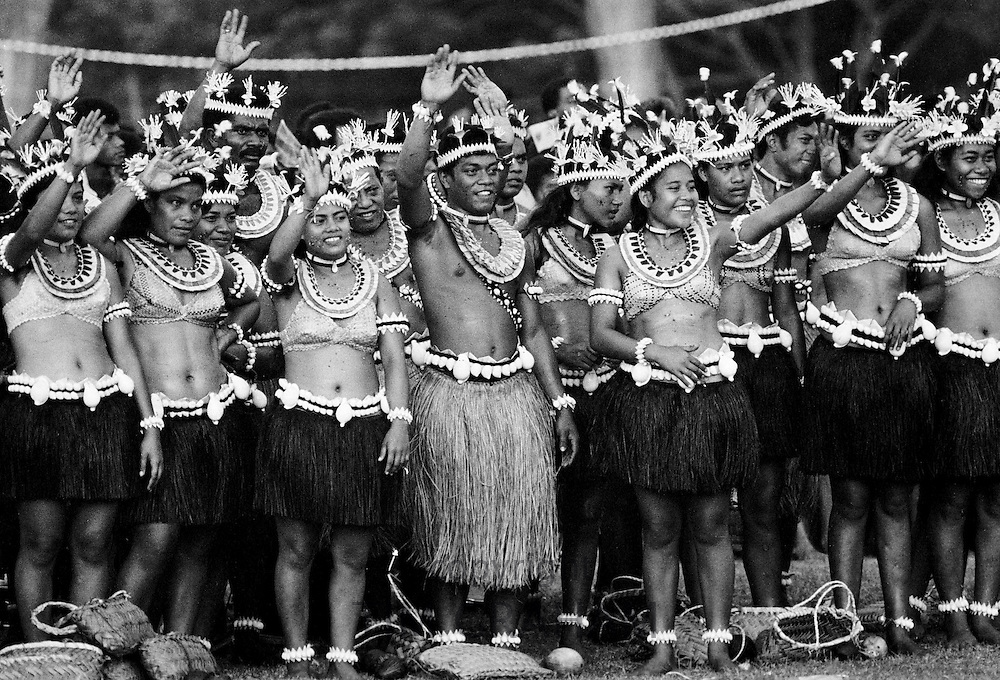 South Pacific islanders at tribal gathering