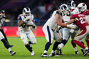 Los Angeles Rams Running Back (34) Brown, Malcolmin action during the International Series match between Arizona Cardinals and Los Angeles Rams at Twickenham, Richmond, United Kingdom on 22 October 2017. Photo by Jason Brown.