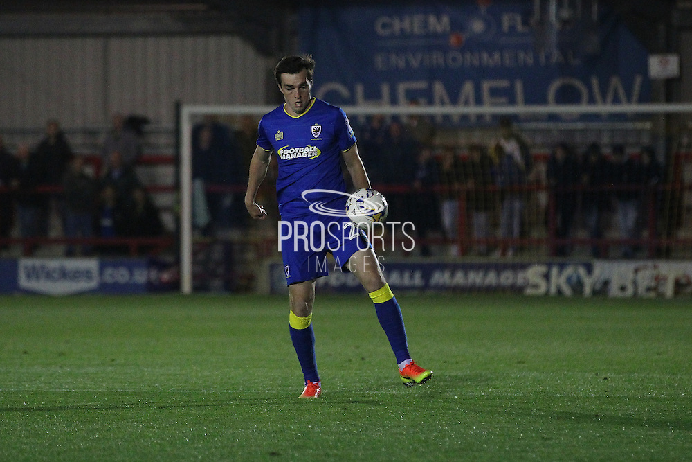 AFC Wimbledon defender Sean Kelly (22) during the EFL Trophy match between AFC Wimbledon and Plymouth Argyle at the Cherry Red Records Stadium, Kingston, England on 4 October 2016. Photo by Stuart Butcher.