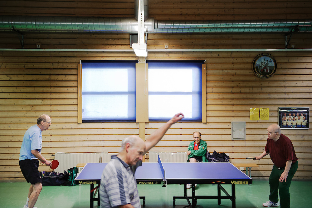 Uno Hedin vs. Rune Forsberg, both have won several medals at the World Vetern Tabletennis Championship.