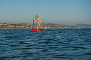Caitlin Looby paddleboarding at Dana Point, CA.