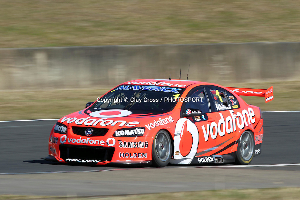 Jamie Whincup (TeamVodafone Holden). Sydney Motorsport Park 360 ~ Race 18 2012 V8 Supercar Championship Series. Sydney Motorsport Park, Sydney on Saturday 25 August 2012. Photo: Clay Cross / photosport.co.nz