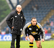 Twickenham, GREAT BRITAIN,  Left , Shaun EDWARD and Mark ROBINSON,before the EDF Energy Cup rugby match,  London Wasps vs Newport Gwent Dragons, at Adams Park Stadium, on 02.11.2008 [Photo, Peter Spurrier/Intersport-images]