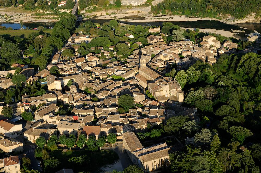 France, Languedoc Roussillon, Gard (30), région Uzès, village de Collias