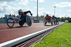 PUIGBO VERDAGUER Roger, BLICHFELDT Ebbe, CASOLI Julien, 2014 IPC European Athletics Championships, Swansea, Wales, United Kingdom