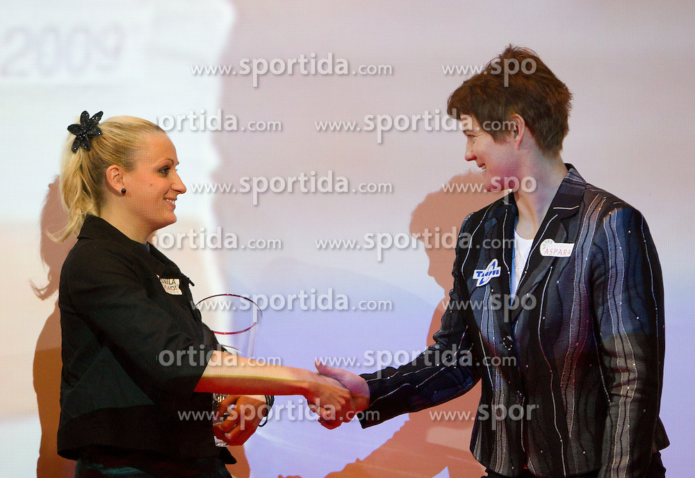 Sabina Veit and Martina Ratej during the Slovenia's Athlete of the year award ceremony by Slovenian Athletics Federation AZS, on November 12, 2008 in Hotel Mons, Ljubljana, Slovenia.(Photo By Vid Ponikvar / Sportida.com) , on November 12, 2010.