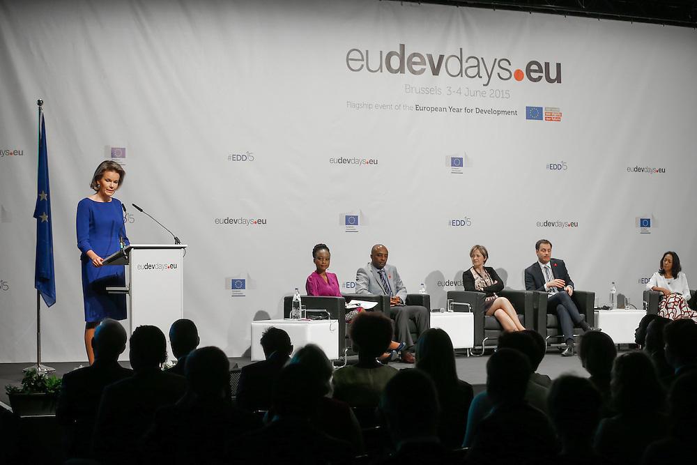 04 June 2015 - Belgium - Brussels - European Development Days - EDD - Education - Right to quality education - HM Mathilde , Queen of the Belgians © European Union