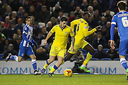Leeds United midfielder, Alex Mowatt (10) on the ball during the Sky Bet Championship match between Brighton and Hove Albion and Leeds United at the American Express Community Stadium, Brighton and Hove, England on 29 February 2016. Photo by Phil Duncan.