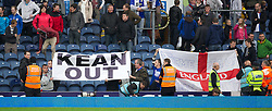 BLACKBURN, ENGLAND - Sunday, October 23, 2011: Blackburn Rovers' supporters protest at the end of the 2-1 defeat to Tottenham Hotspur calling for the sacking of their manager manager Steve Kean during the Premiership match at Ewood Park. (Pic by David Rawcliffe/Propaganda)