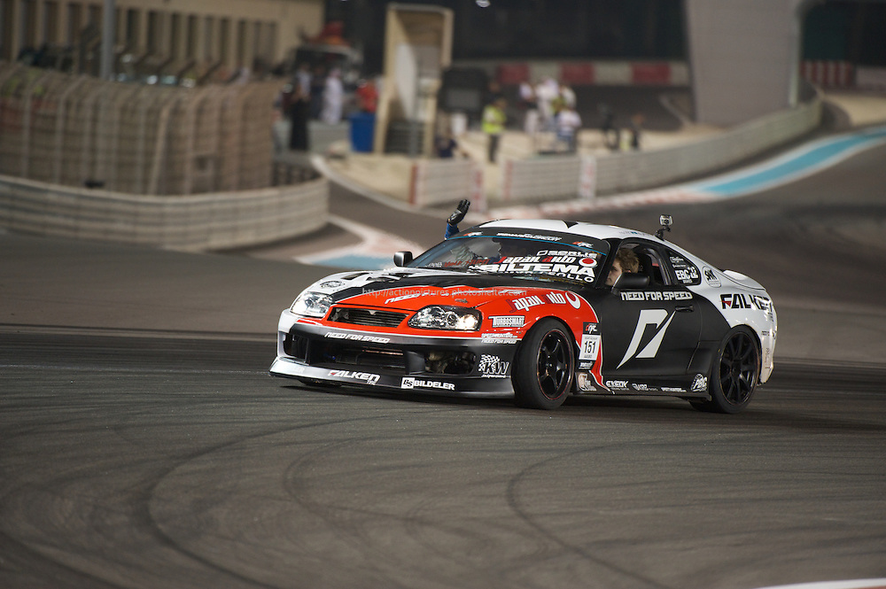 25 feb, formula drift champion ship, yas marina circuit, abu dhabi, fredric aasbo driving his toyota supra pro drift