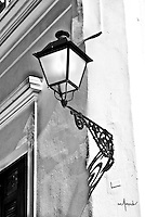Old San Juan traditional street lamp