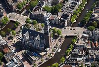 AMSTERDAM -  luchtfoto Westerkerk  Centrum Amsterdam , De Wester,    COPYRIGHT  KOEN SUYK