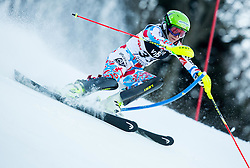 """Barioz Taina (FRA) competes during FIS Alpine Ski World Cup 2014/15 5th Ladies' Slalom race named """"Snow Queen Trophy 2015"""", on January 4, 2015 in Course Crveni Spust at Sljeme hill, Zagreb, Croatia.  Photo by Vid Ponikvar / Sportida"""