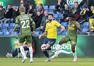 FODBOLD: Anthony Jung (Brøndby IF) og Mohammed Kudus (FC Nordsjælland) under kampen i Superligaen mellem Brøndby IF og FC Nordsjælland den 13. maj 2019 på Brøndby Stadion. Foto: Claus Birch.