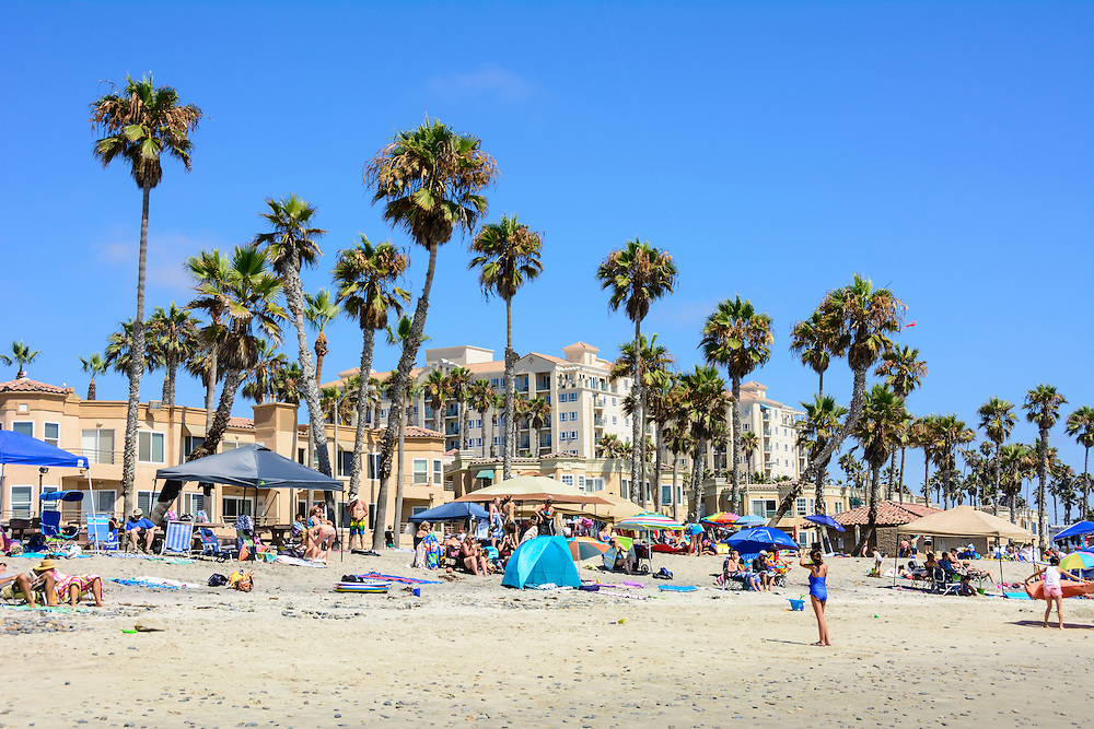 Oceanside beach, California.