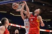 Niccolo Melli, Daniel Theis<br /> Nazionale Italiana Maschile Senior<br /> Eurobasket 2017 - Group Phase<br /> Italia - germani<br /> FIP 2017<br /> Tel Aviv, 05/09/2017<br /> Foto Ciamillo - Castoria/ M.Longo