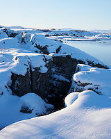 Þingvellir National Park in winter. South Iceland.