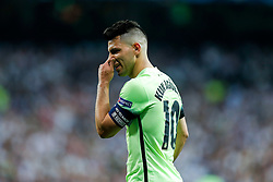 Sergio Aguero of Manchester City looks on - Mandatory byline: Rogan Thomson/JMP - 04/05/2016 - FOOTBALL - Santiago Bernabeu Stadium - Madrid, Spain - Real Madrid v Manchester City - UEFA Champions League Semi Finals: Second Leg.