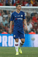 ISTANBUL, TURKEY - AUGUST 14: Mason Mount of Chelsea looks on during the UEFA Super Cup match between Liverpool and Chelsea at Vodafone Park on August 14, 2019 in Istanbul, Turkey. (Photo by MB Media/Getty Images)