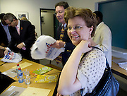 29 November 2008, Alexandra, South Africa. Ivan Lewis, UK Minister for International Development and Barbara Hogan, Minister of Health, SA. Ivan Lewis announced a new multi-million pound support package to help the country prevent millions of new HIV infections.
